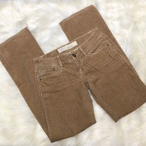 LOFT Beige Slim Boot Corduroy Pants 0